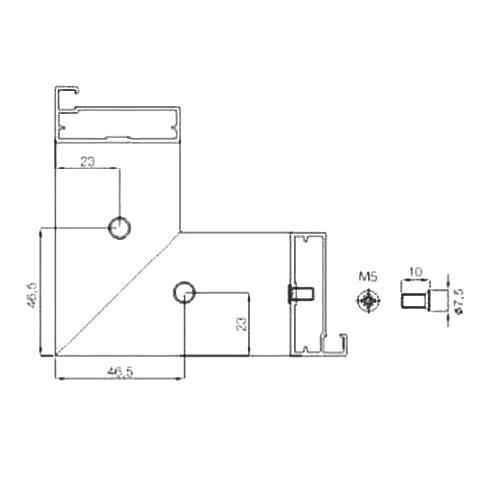 KOTNIKI ZA PROFIL N3 (Z2, Z3, Z4) 4 KOSI