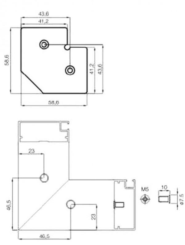 PROFIL ALU Z3 (A12) ZA STEKLO 4MM 2,8M