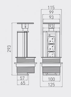 ELEKTRIČNI RAZDELILEC POTOPNI GTV-100 SREBRN