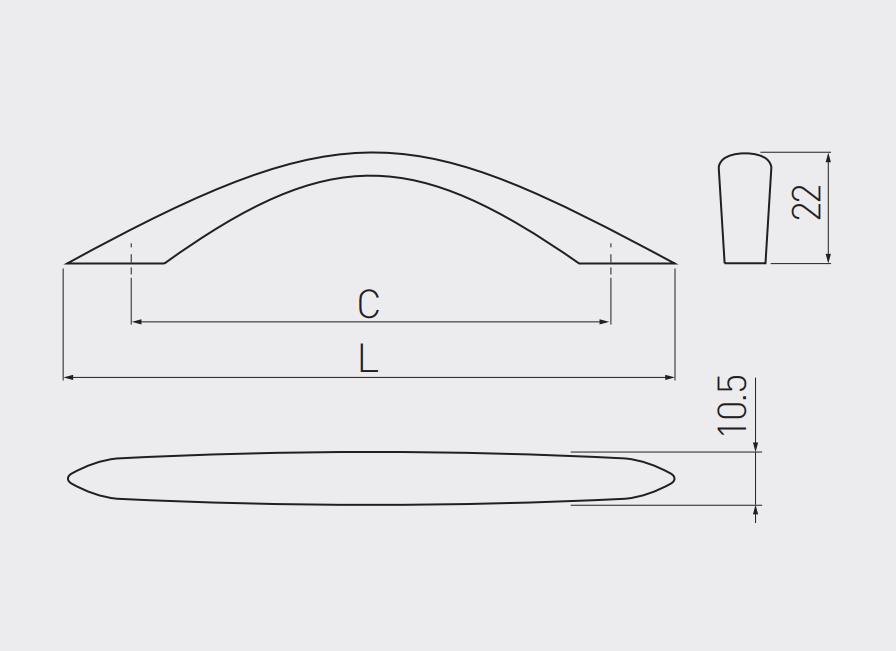 ROČAJ UZ-01 128 ALU