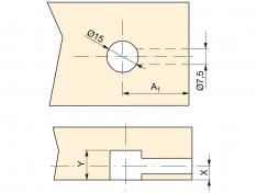 VEZNIK EMU 7x45x6 CINK (10kos)