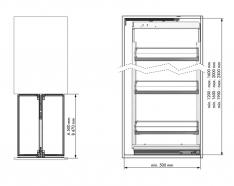 IZVLEČNA KOLONA M&C EL.300 Viš. 1600-2000mm (4xkošara)