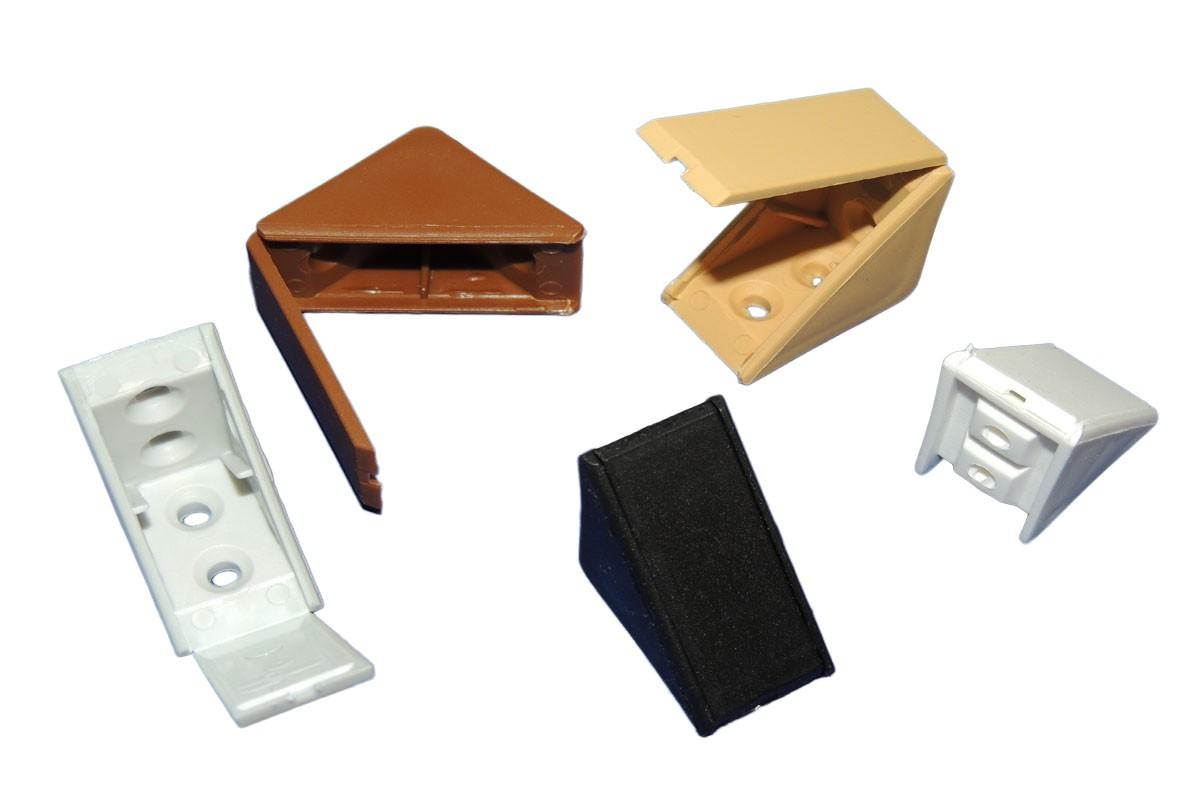 KOTNIKI ZA POHIŠTVO BARVNI PVC 31x31mm (100kos/pak)