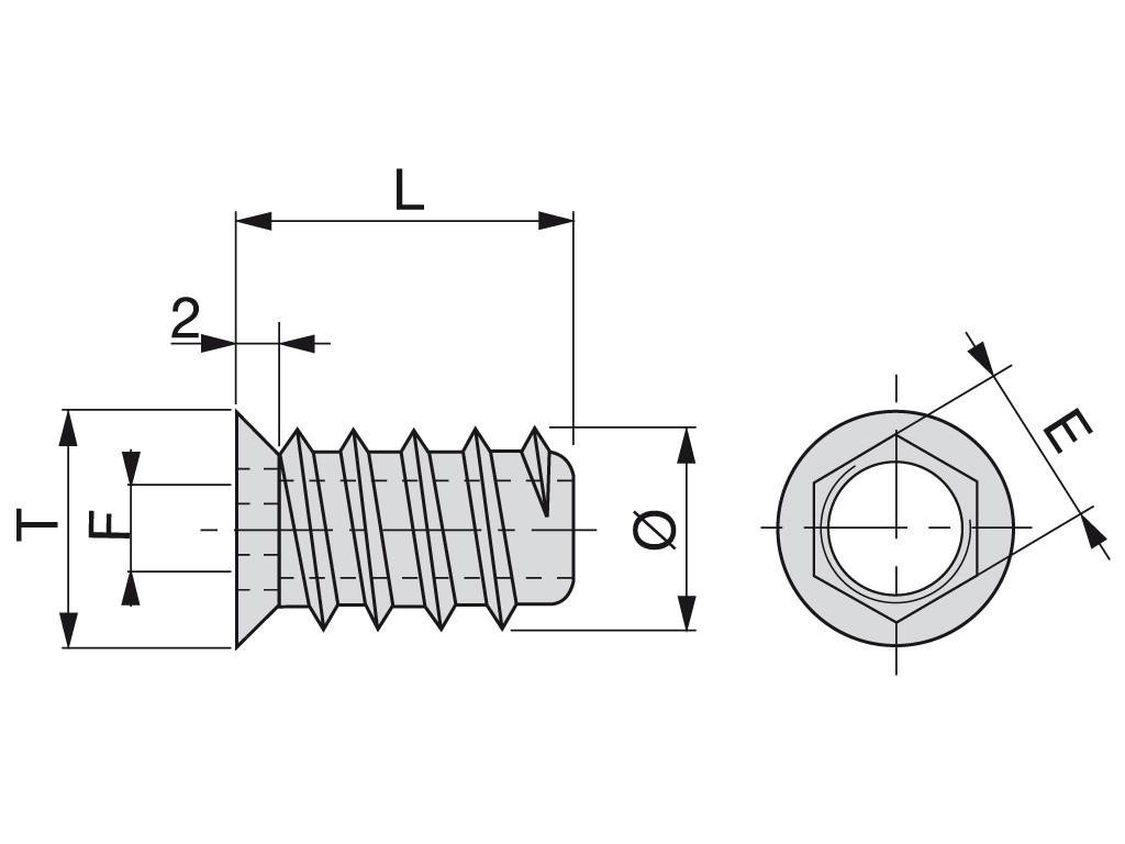 MATICA STROČNA 15x10xM8 Cink-Zamak (10kos)