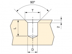 MATICA STROČNA 13x8xM6 Cink-Zamak (10kos)