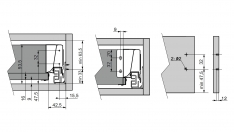 VODILA ZA PREDALE MODERN BOX H=135mm