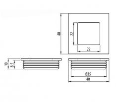 ROČAJ B226 KVADRATEN FI35