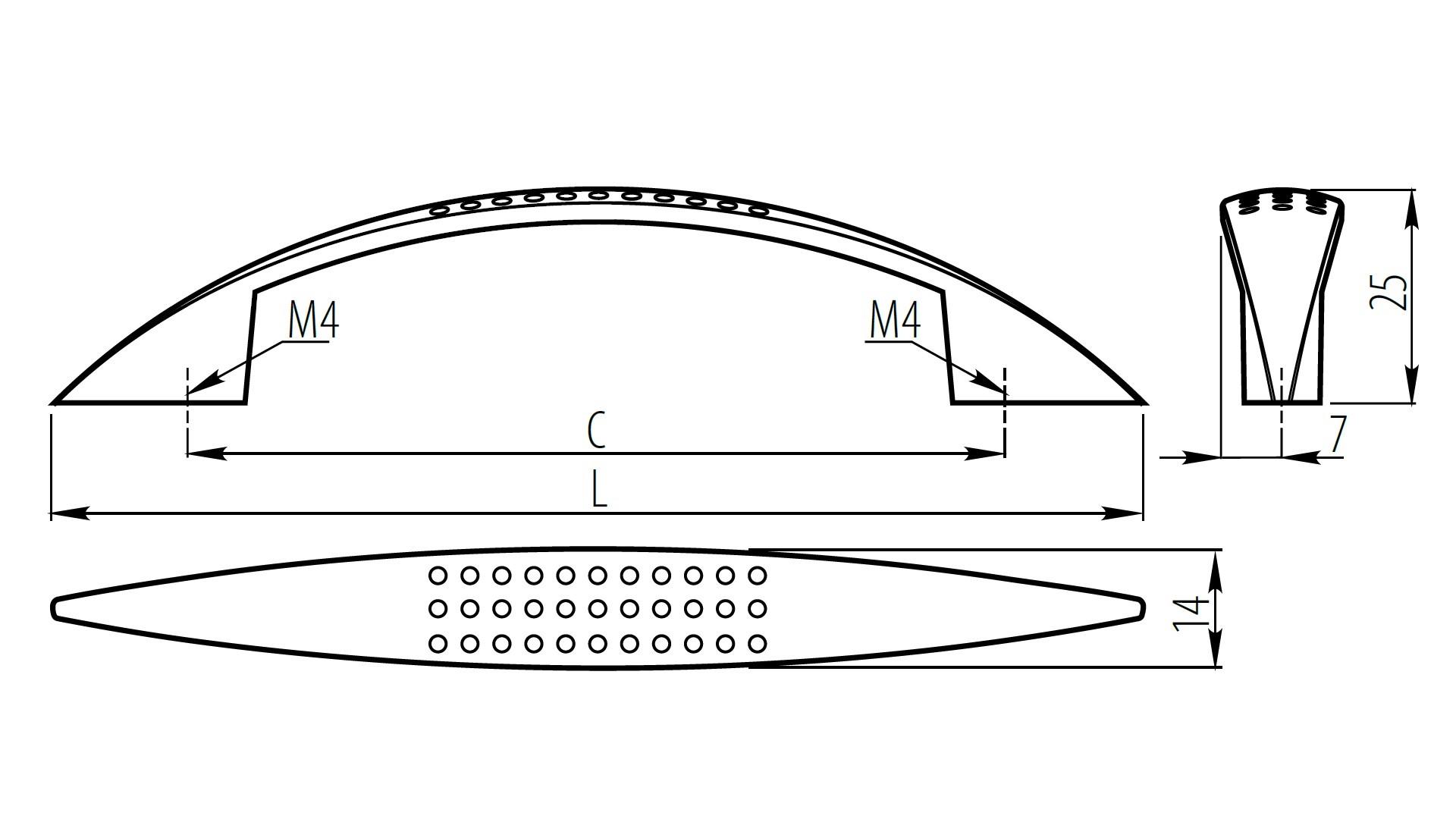 ROČAJ UZ-05 128 KROM