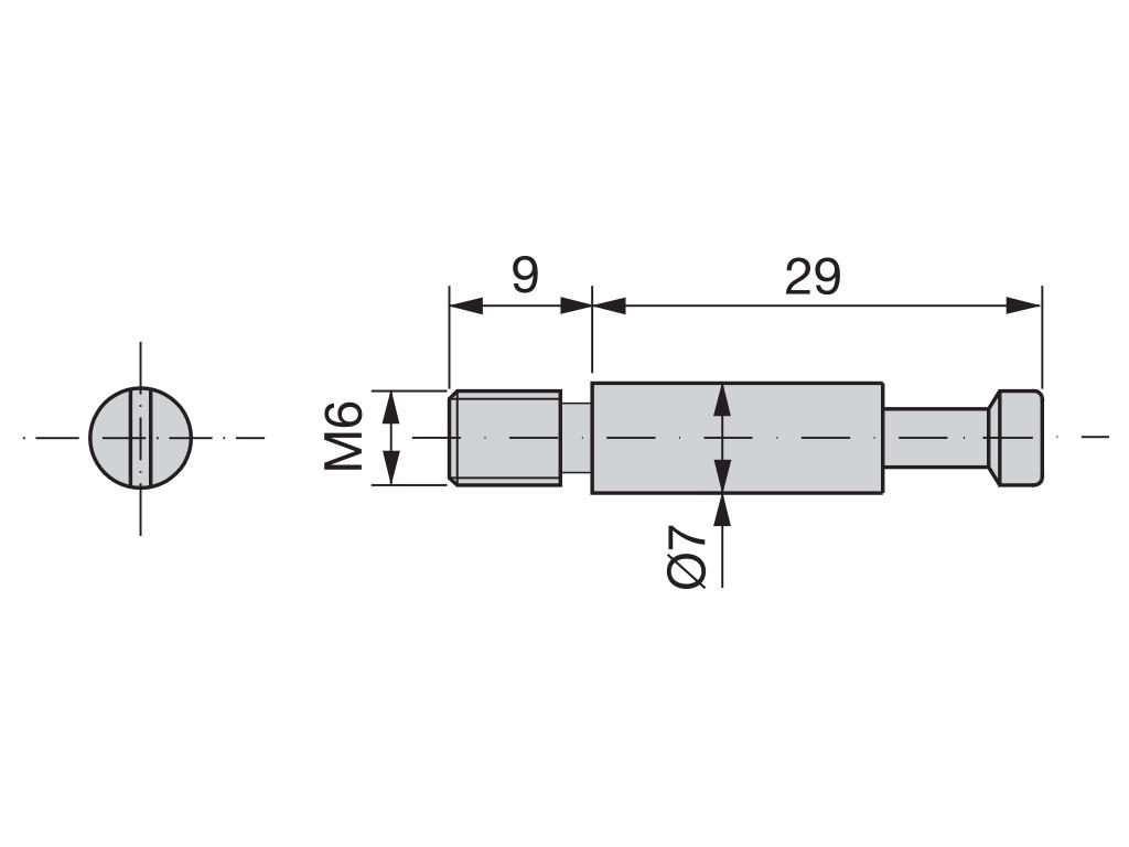 VEZNIK EMU 7x36xM6 CINK (10kos)