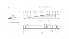 KROGLIČNO VODILO 17mm Micro (par)