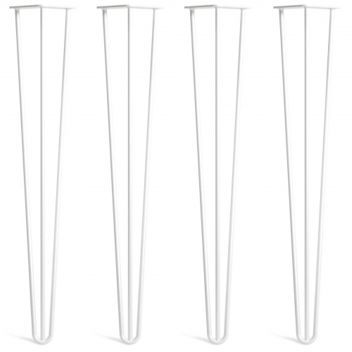 Noge za mizo Hairpin 3-RD bele