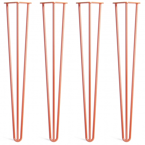 Noge za mizo Hairpin 3-RD oranžne