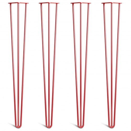 Noge za mizo Hairpin 3-RD rdeče