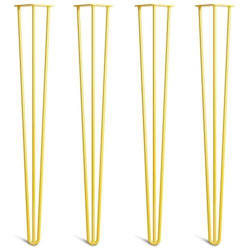 Noge za mizo Hairpin 3-RD rumene