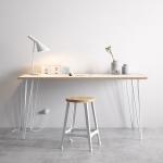 Noge za mizo bele – pisalna miza