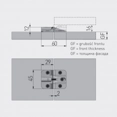 PANTI ZA PREKLOPNA VRATA 60x45mm